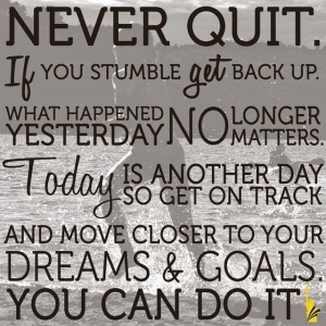 never quit quote
